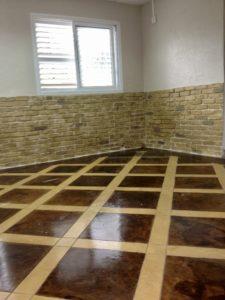 בטון צרוב רצפה וקירות